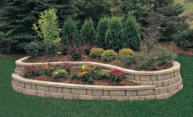 Small Retaining Wall Ideas: Raised Flower Bed