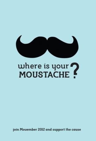 I baffi benefici di Movember. La campagna per raccogliere fondi per la ricerca contro il tumore alla prostata.