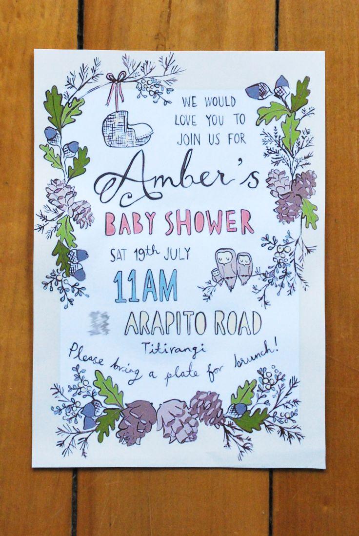 Custom baby shower invite