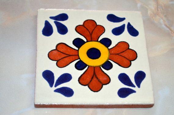 90 azulejos Talavera pintadas a mano 4 X 4 por MexicanTiles en Etsy