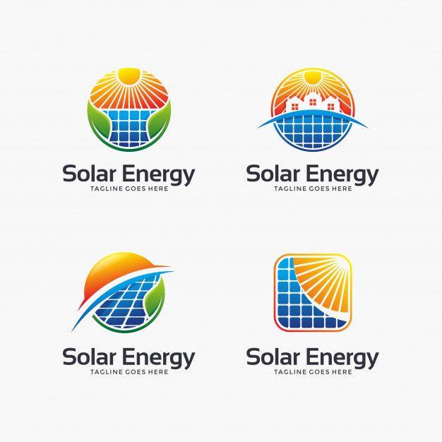 Set Of Abstract Solar Energy Logo Design Energy Logo Energy
