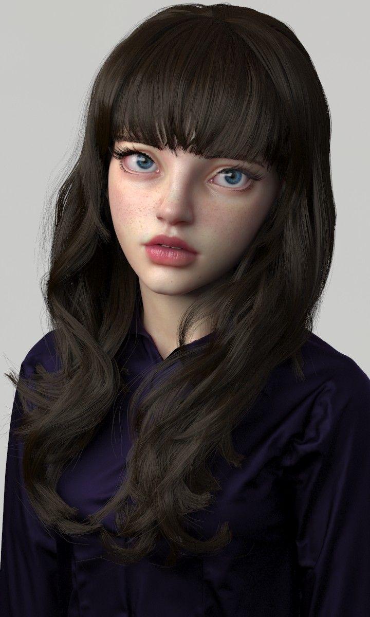 ArtStation - girlface_render, soojong kim