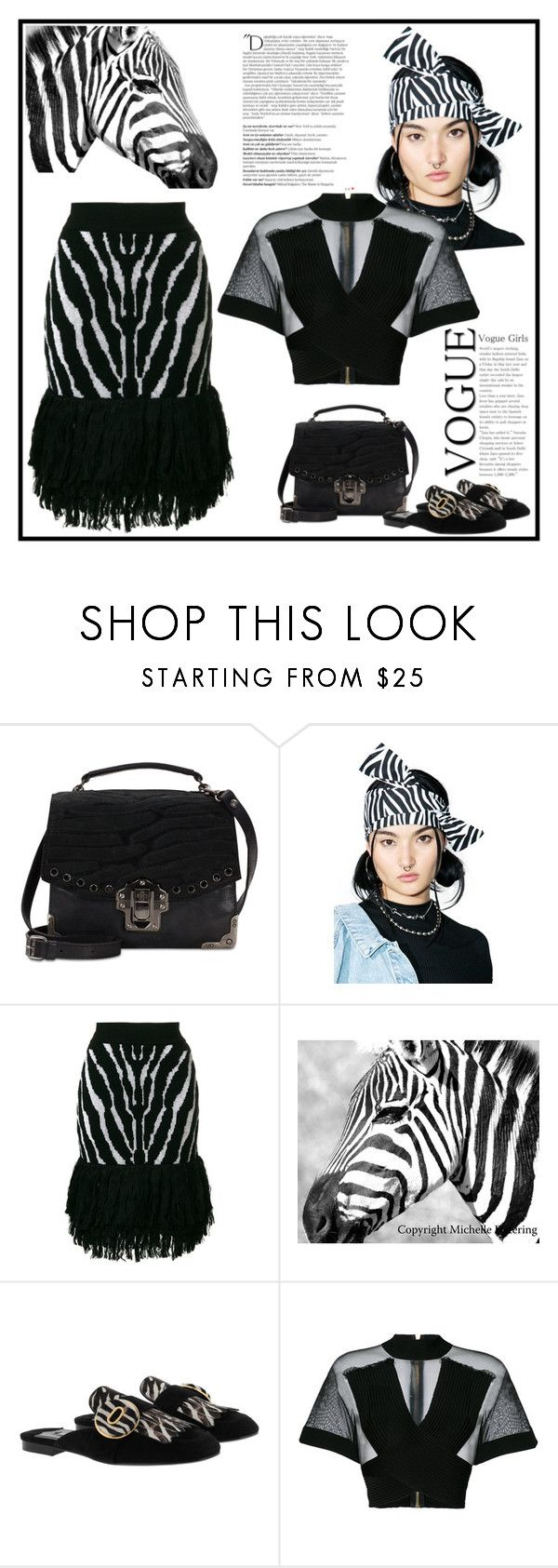 """Madagascar Zebra Marty"" by yours-styling-best-friend ❤ liked on Polyvore featuring beauty, Patricia Nash, Cheap Monday, Balmain and Prada"
