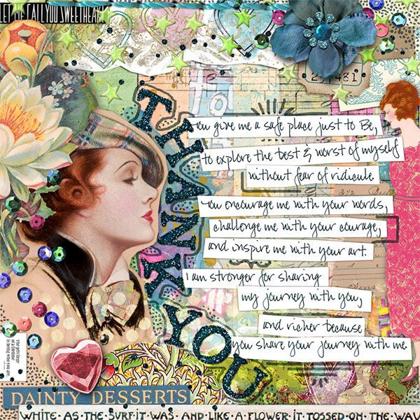 """Love this art journal page """"Thank You"""""""