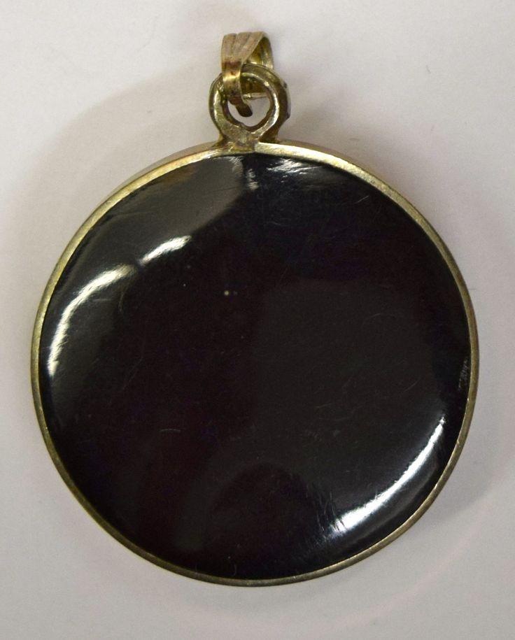 Vintage Silver, Black Onyx & Rhodochrosite Pendant