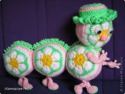 Toy Crochet Yarn gusenichka photo 1