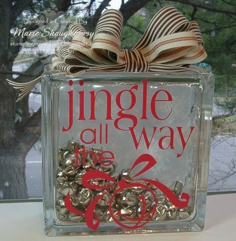 Best 25 christmas glass blocks ideas on pinterest glass for Glass blocks for crafts lowes