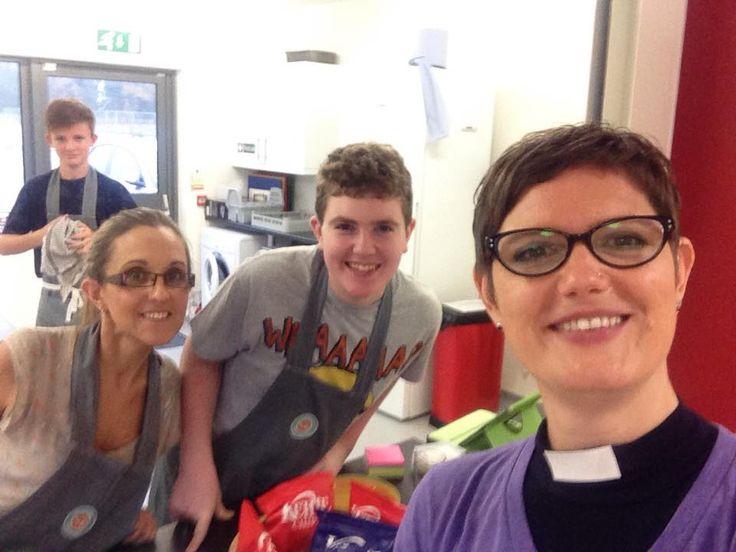 Hub Cafe volunteers selfie!