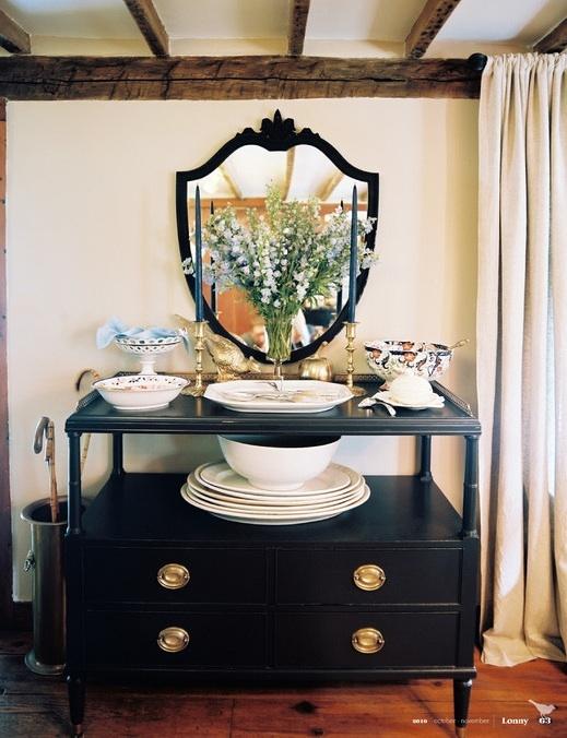 buffet area: Decor, Dining Rooms, Buffet, Eddie Ross, Idea, Vignette, Furniture, Photo