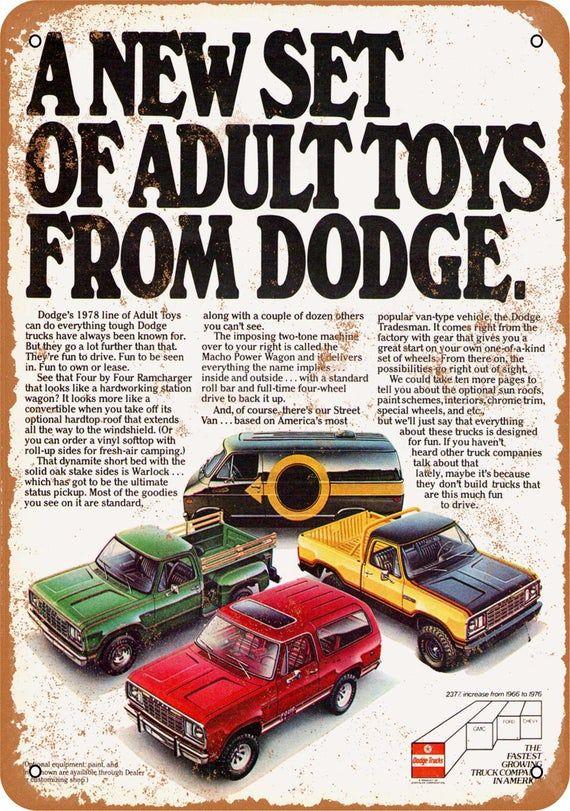 1978 Dodge Trucks Vintage Look Metal Sign