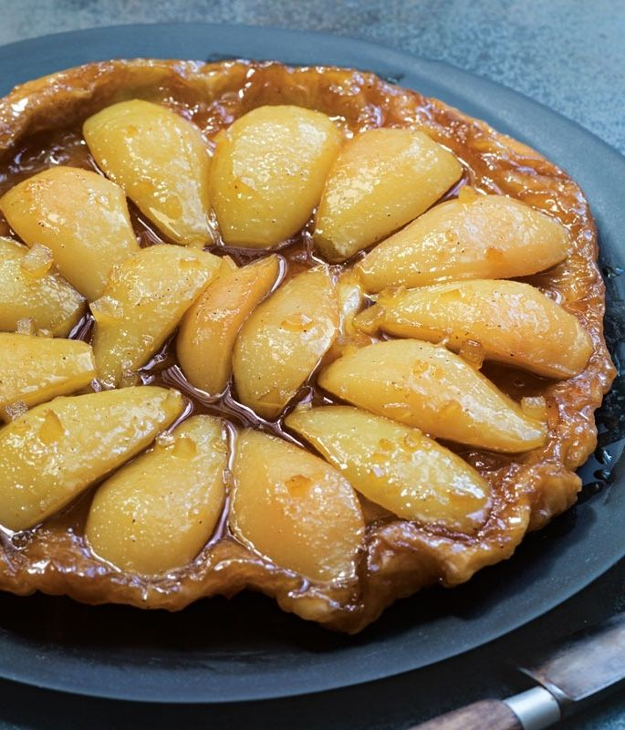 Spiced Pear Tarte Tatin | This French-style upside-down tart is classically made with apples, but we also like a variation made with spiced pears.
