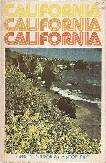 Vintage California Travel Guide Poster – #70s #California #Guide #Poster #Travel