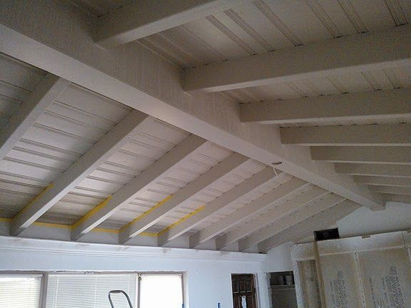 Painting a ceiling to look like driftwood everything i create paint garage doors