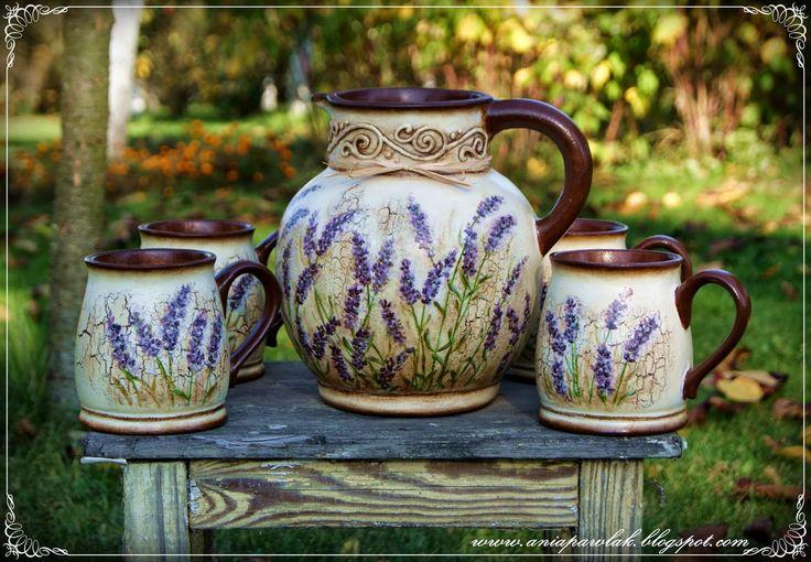 OWOCE MOJEJ WYOBRAŹNI: DECOUPAGE - ceramika