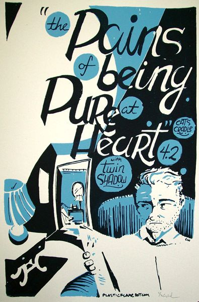 The Pains of Being Pure at Heart concert poster by Chris Williams