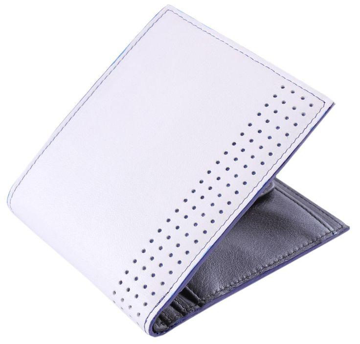 Mustard Wallet - Barras White Leather Wallet #Mustard #Mens #Wallet