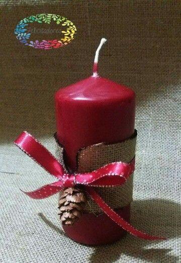 Candela decorativa natalizia...