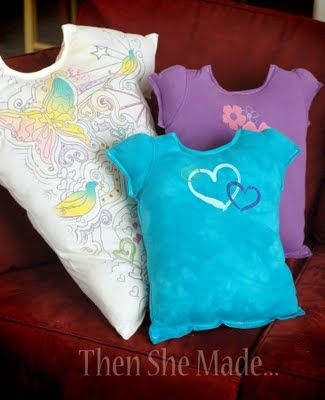 T-Shirt Pillows (also could be used as autograph pillows).
