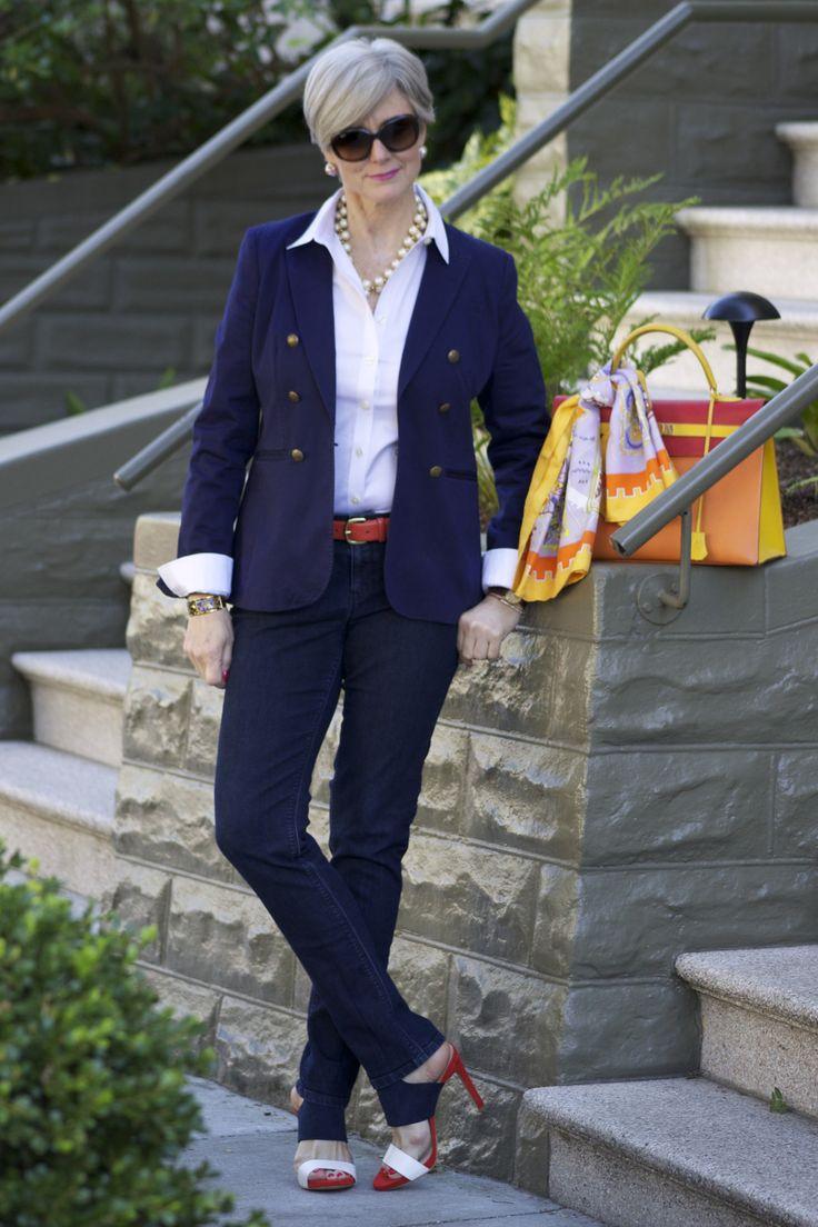 outfit post <the blues>   labels: denim anntaylor; shirt and blazer @Banana Republic; necklace jcrew; shoes @Zara; handbag @Henry Highclass; sunglasses @RayBan