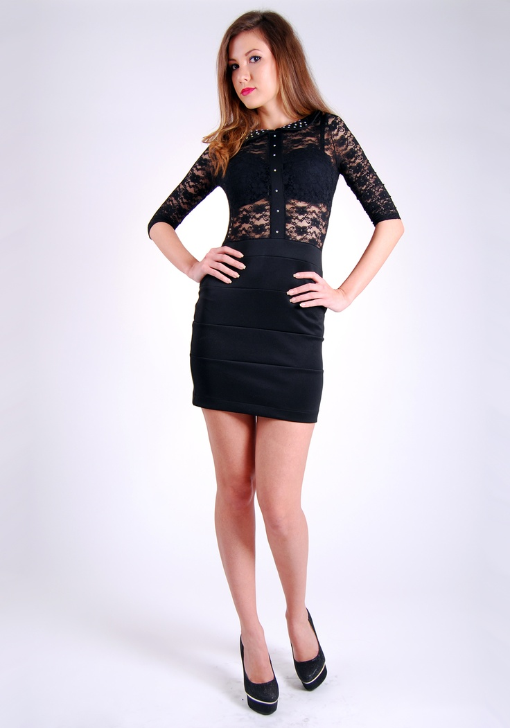 This dress highlights the female form
