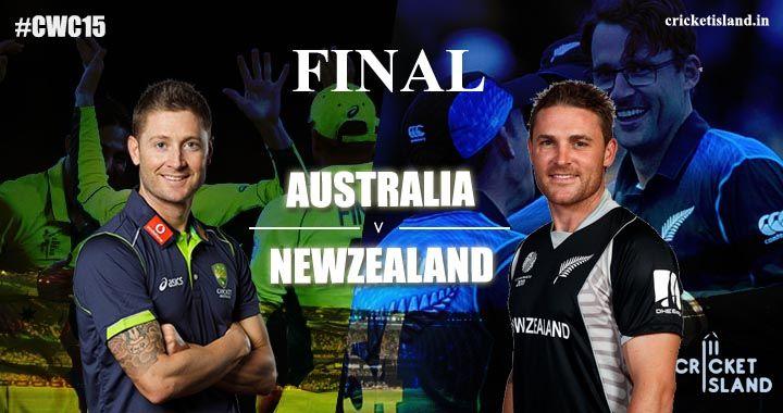 CWC15 final Preview NewZealand vs Australia cricket world cup 2015