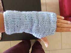 Modèle de mitaines au tricot faciles pour débutante et tutorial pour votre première couture au tricot