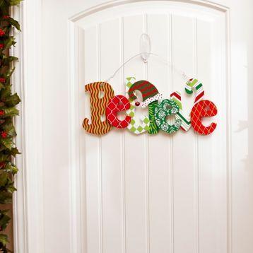 Celebrate the season with our Believe Wall Hanger! #Kirklands #HollyJolly #holidaydecor #kirklandsholiday