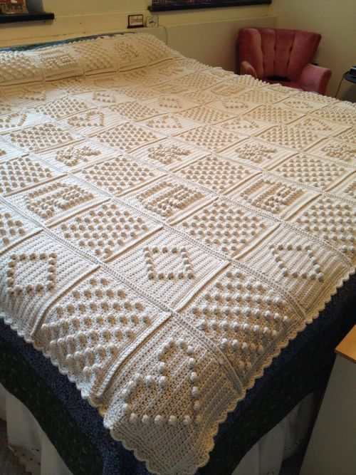 Inspiration - Squares Crochet Blanket . You can design each square and make a unique blanket.