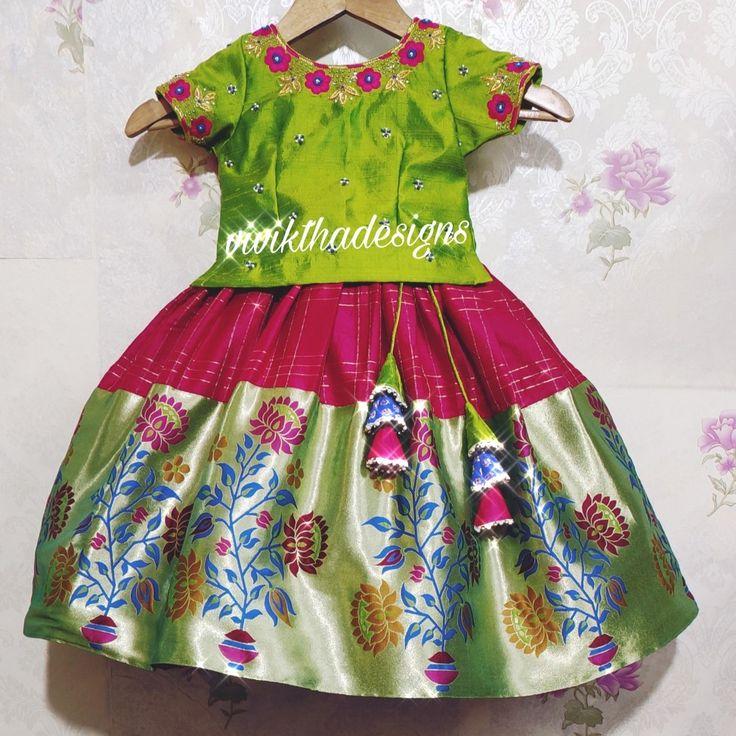 Kids paithani lehanga blouse   Kids designer dresses ...
