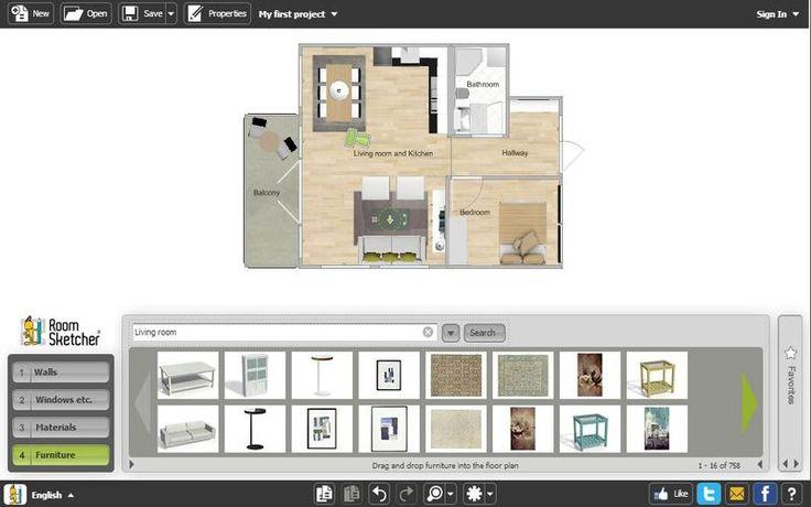RoomSketcher es una aplicación online, con una versión gratuita, para crear fácilmente planos de viviendas si piensas hacer reformas, decoración, etc.
