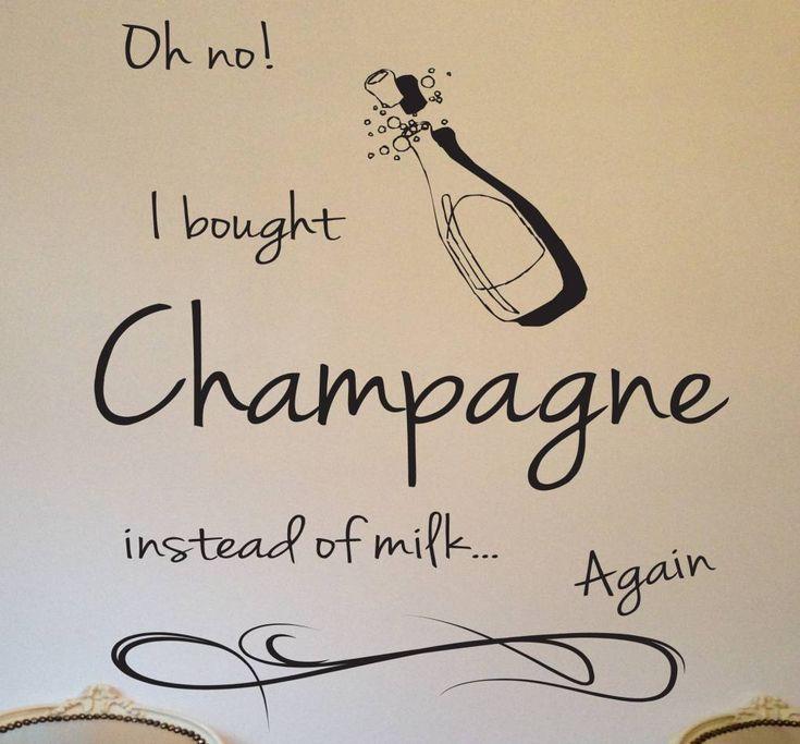 Muursticker Champagne