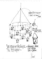 Ritning på takkronan i episod 1 av Sommar med Ernst 2015