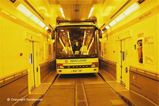 The Chunnel - Drive Between the UK and Europe Through the Channel Tunnel
