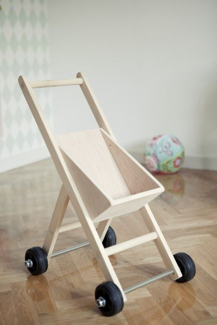 Wooden push toy.
