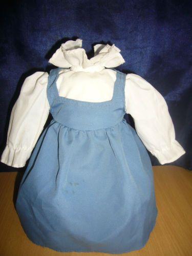 Puppenkleid-Puppe-L-24cm-Schuhe-Unterrock-Hose-Farbe-blau-weiss