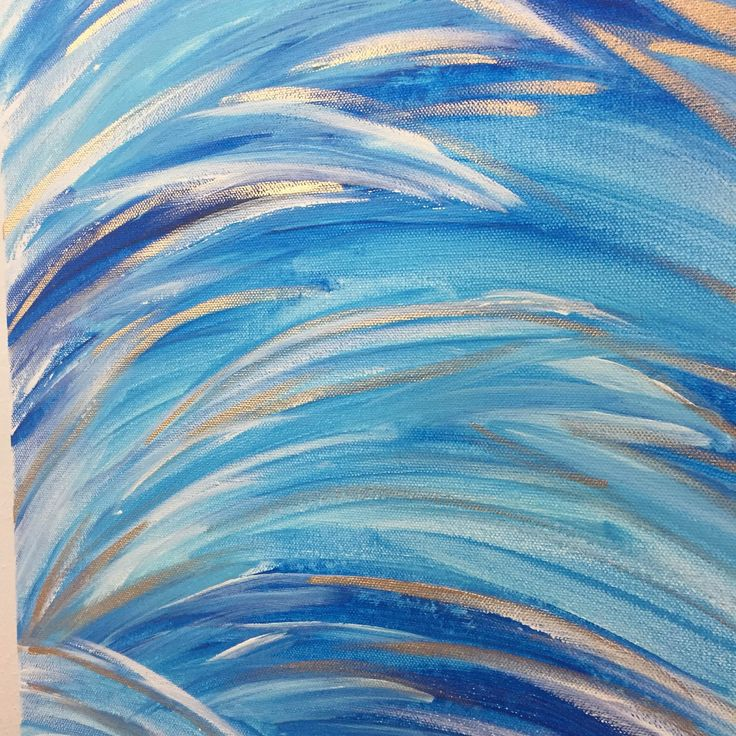 Coastal Art Painting, Ocean Blue Wall Art, Blue Ocean Wall Art, Extra Large