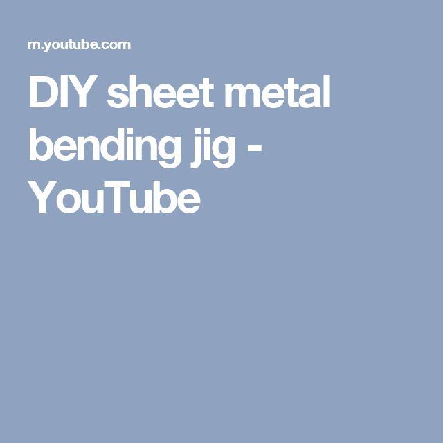 DIY sheet metal bending jig - YouTube