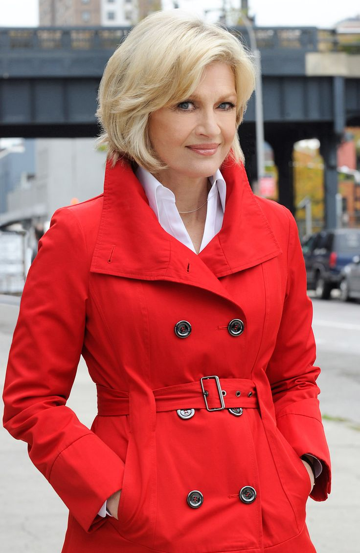 Diane Sawyer. 66 years old and looking amazing! Love her hair, giving me ideas!