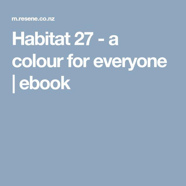 Habitat 27 - a colour for everyone   ebook