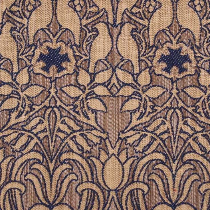 Arts And Crafts Purple Flat-Weave Curtain and Upholstery Fabric   C F A Voysey Designs Hawthorne Iolite from Loome Fabrics