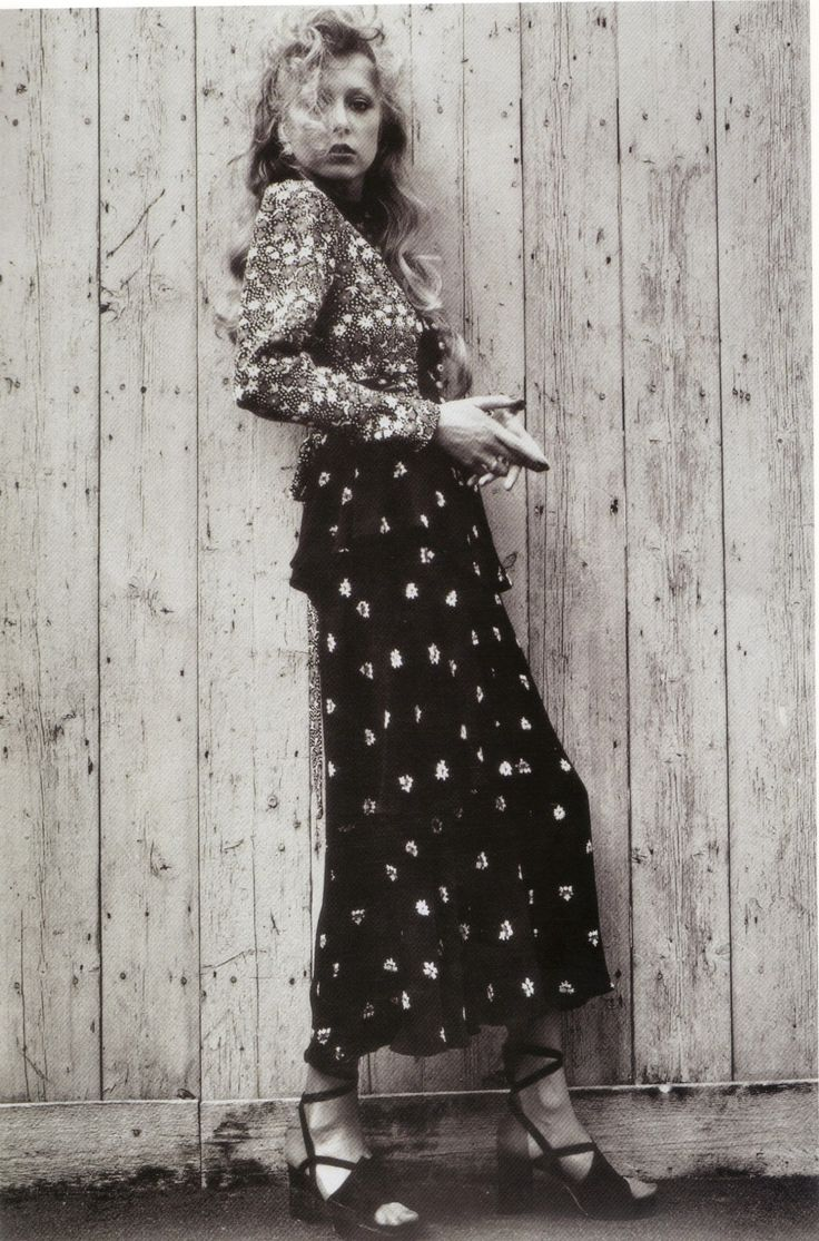 1973 - Pattie Boyd in Ossie Clark