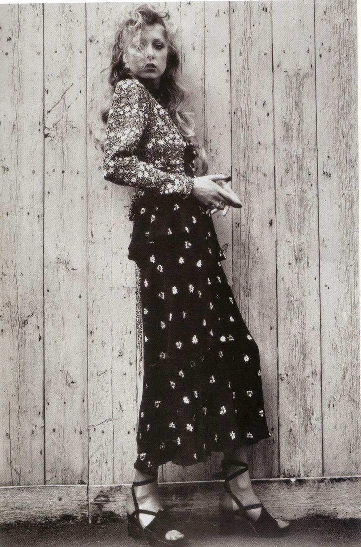 1973 - Pattie Boyd in Ossie Clark