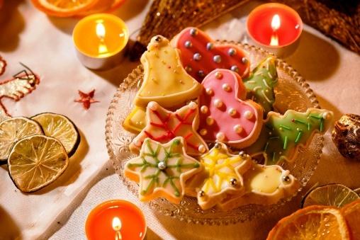 przepis na ciasteczka świąteczne - Kolorowe ciasteczka świąteczne