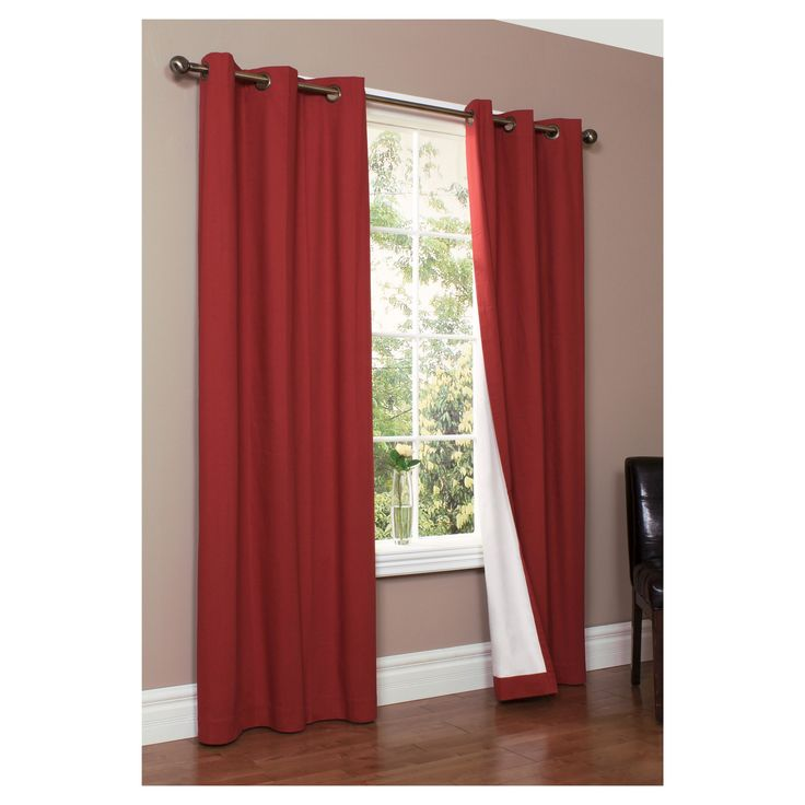 Weathermate Grommet Top Curtain Panel Pair - Burgundy (Red) (160 x 84)