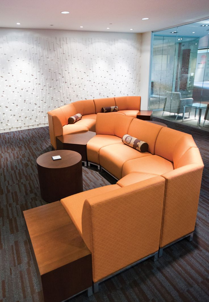 orange office furniture. sleek and modern orange lounges from national office furniture