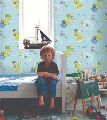 CAROUSEL - Leuke en schattige kinderkamercollectie van Dutch Wallcoverings. Grote en kleine patronen zijn aangevuld met strepen en randen, zowel voor jongens als meisjes.