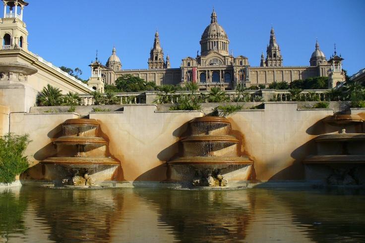 Museu Nacional d'Art de Catalunya situated on the Montjuïc hill, Barcelona, Spain