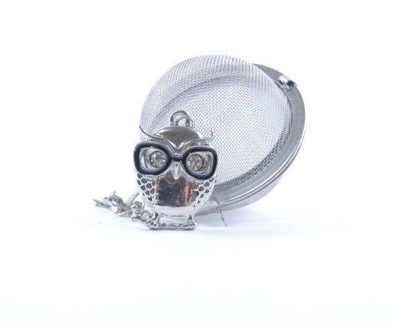 Loose Tea Infuser Mesh Ball Tea Strainer Owl with Eye by 9thfloor