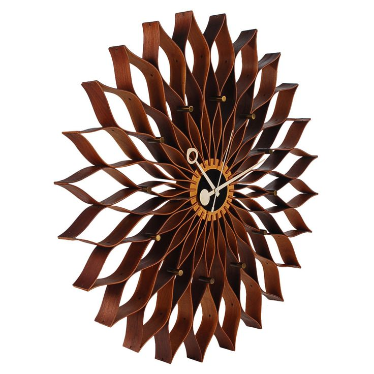 Vintage Sunflower Wall Clock by George Nelson for Howard Miller | From a unique collection of antique and modern clocks at https://www.1stdibs.com/furniture/decorative-objects/clocks/