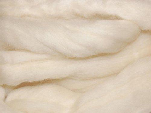 Biondo Naturale Bianco di lana merino, 50g. Grande per feltro bagnato/ago feltro, e filatura progetti.